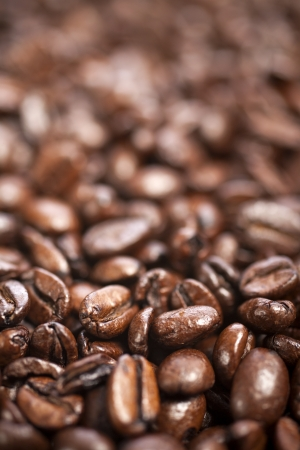 Fresh coffee beans before being ground Stock Photo - 15572120