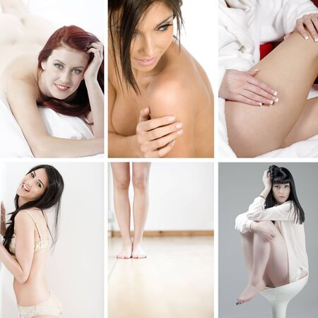 Compilation of beautiful young women in beauty style pose photo