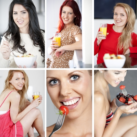 Compilation of beautiful young women in a healthy lifestyle