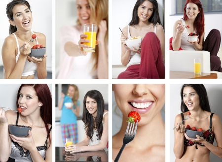 Compilation of beautiful young women in a healthy lifestyle Stock Photo - 15720408