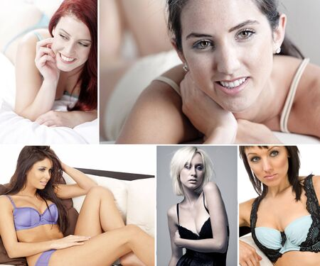 Compilation of attractive young woman in underwear photo