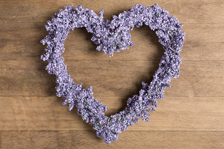 Fresh lavender in a heart shape design