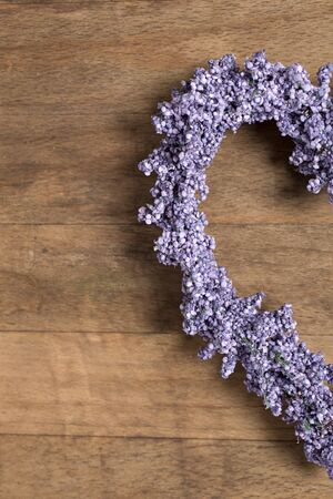lavender: Fresh lavender in a heart shape design