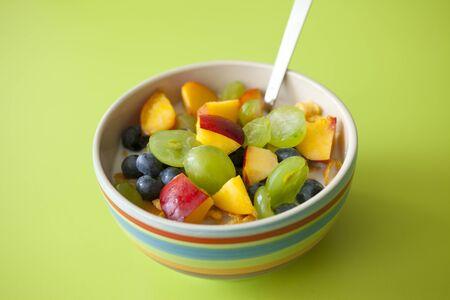 muesli with fruit.