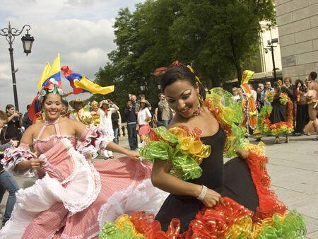 london, june 19 2010, carnaval de barranquilla parade warsaw castle square