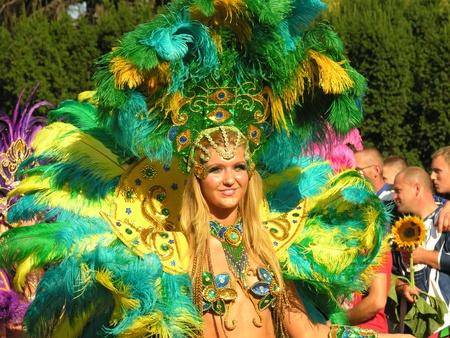 warsaw, september 6 2008, parade on 6th festiwal of brazilian culture in warsaw Stok Fotoğraf - 10165761