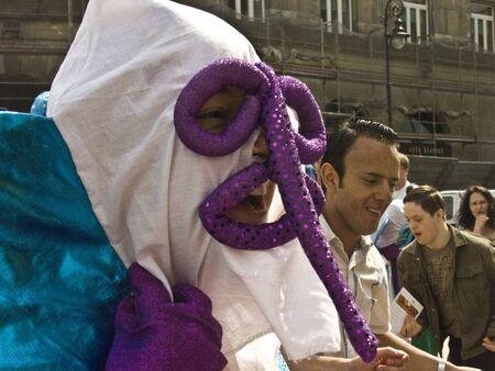 pageant: warsaw, june 19 2010, carnaval de barranquilla parade warsaw castle square
