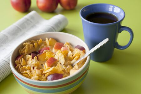 muesli with fruit for breakfast Stock Photo - 10226574