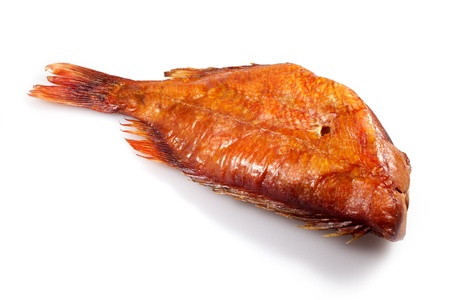 radicals: smoked fish on white background Stock Photo