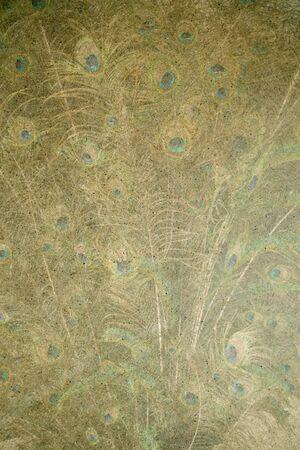 handmade peacock paper photo