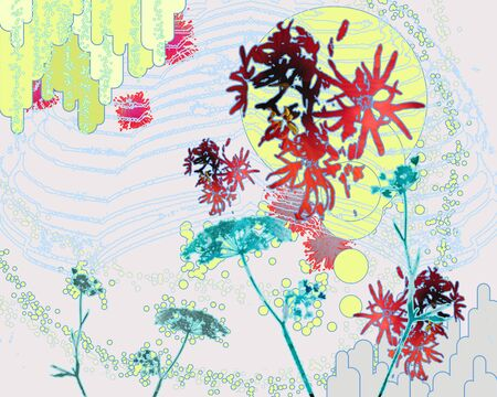 Digitally handpainted abstract Stock Photo - 13885008