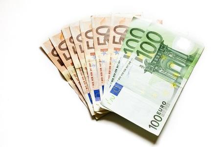 dinero euros: de euros de fondo de dinero Foto de archivo