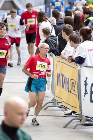 Warsaw, Poland, September 30: Unidentified runners on 34. Warsaw Marathon on September 30, 2012, Warsaw, Poland Stock Photo - 15509144