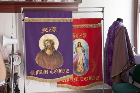 god box: Lichen; Poland mar 17 Devotional shop in the Sanctuary of Our Lady in Lichen - Poland  The largest church in Poland  march 17 2012; Lichen Poland