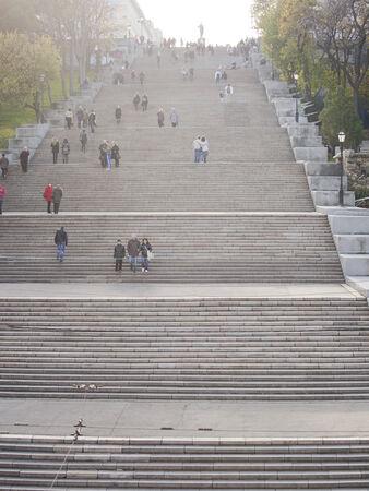 19's: ODESSA, UKRAINE - NOVEMBER 4  The Potiomkin stairs in Odessa, on November 4, 2012 in Odessa, Ukraine