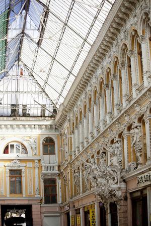 ODESSA, UKRAINE - NOVEMBER 4  fragment of Art Nouveau Passage in Passage Hotel  on November 4, 2012 in Odessa, Ukraine