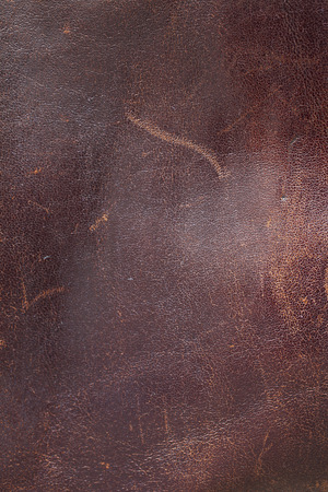 dark fiber: old scratched leather background Stock Photo