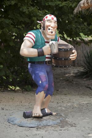 MOÅšCISKA, POLAND - August 8:Pirate in amusement part Farma iluzji, Poland on August 8th 2016