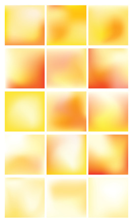 Collection of 15 colorful blurred abstract sunset backgrounds - vector images.