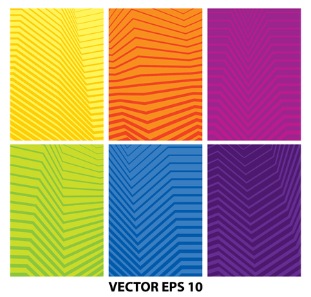 Set of abstract geometric minimalist colorful backgrounds Illustration