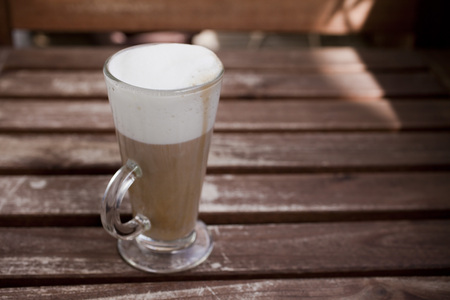 Cup of Coffee Latte Stock Photo