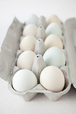 lot of eggs in multiple colors Stock fotó