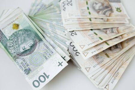 Lots of polish currency money zloty Zdjęcie Seryjne