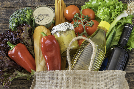 Many fresh vegetables and fruits