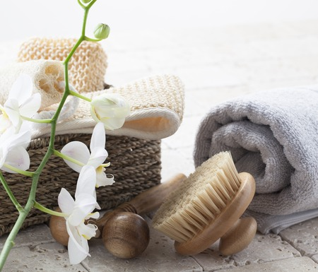 exfoliation: exfoliation and massage at the spa Stock Photo