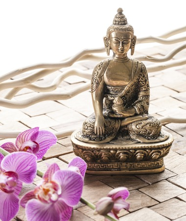 pampering: Zen Buddha for pampering Stock Photo