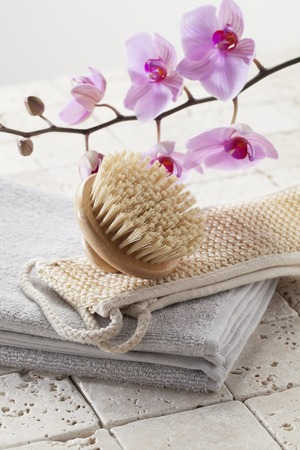 purity: loofah brush and towel for hydration and purity