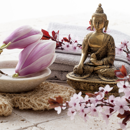 feng shui: ayurveda and feng shui setting for relaxation and meditation
