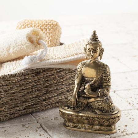 exfoliation: exfoliation and meditation for Zen still-life Stock Photo