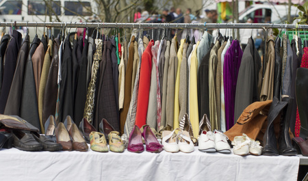 clearance sale on womans clothes and shoes collection Фото со стока