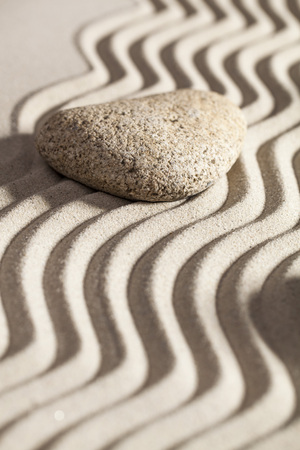 tranquillity: zen sand and one stone for beauty spa or tranquillity concept