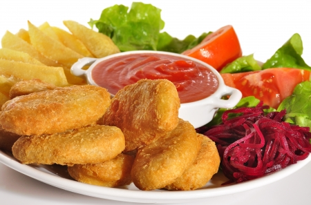 materia: Nuggets  Stock Photo