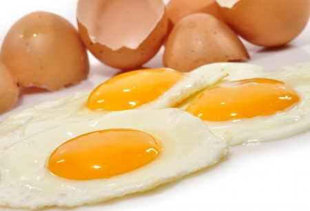 Fried eggs close-up Stock Photo - 17696360