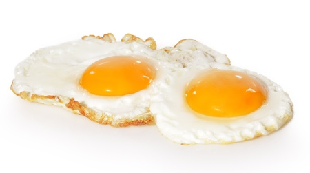 pan fried: Two fried eggs