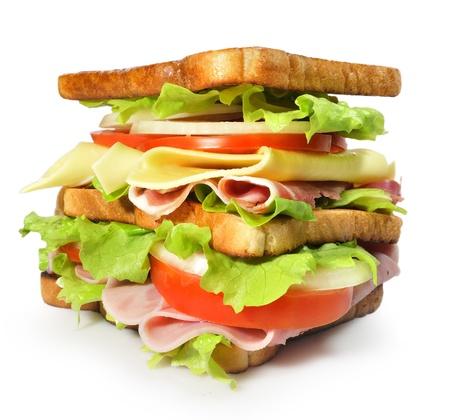 jamon y queso: Sándwich grande