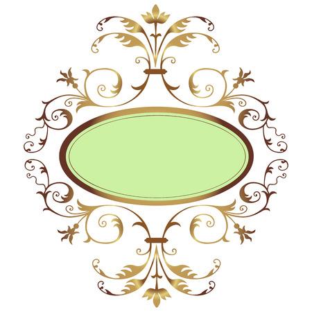 Image avec golden ornement floral