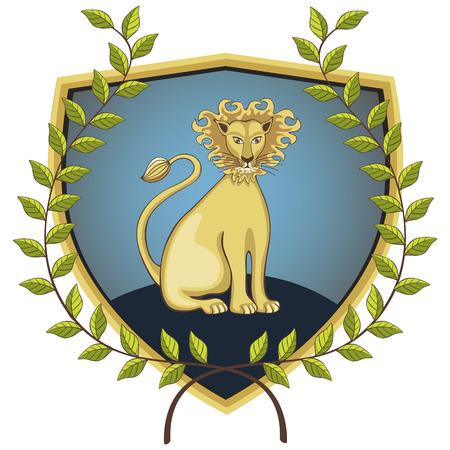 Lionon dans la Couronne de lauriers