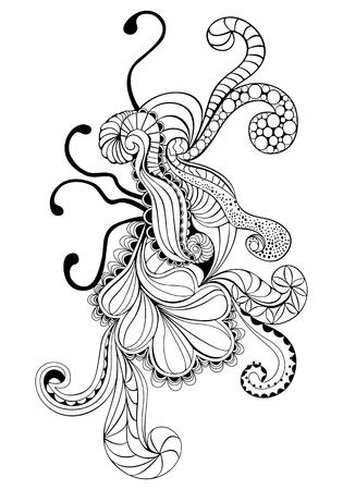 Psychedelic design element Illustration