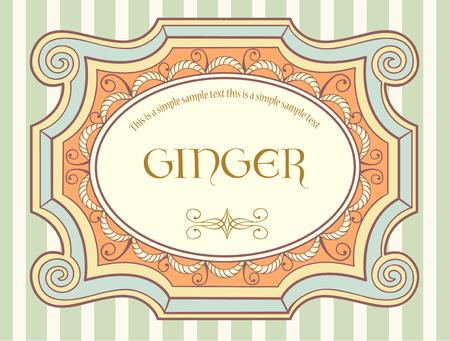 Cute vintage label Illustration