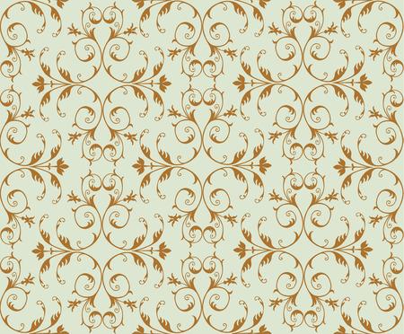 Elegant golden floral pattern, Seamless