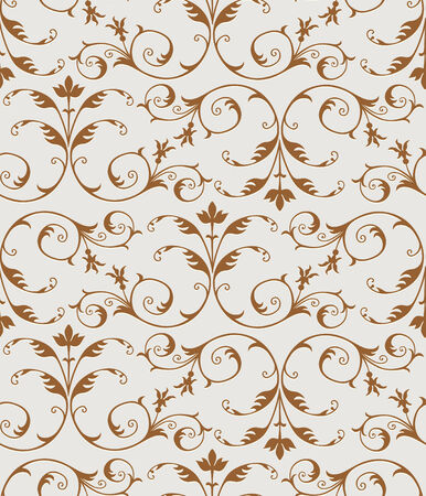 Elegant golden floral pattern, Seamless  Stock Vector - 7883254