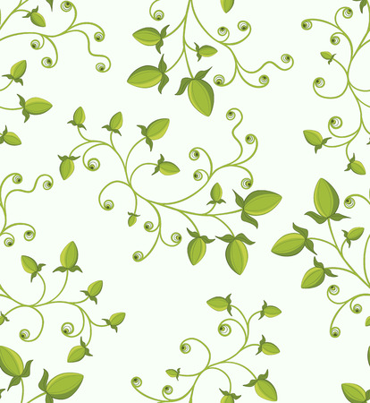 Seamless green floral pattern Stock Vector - 8556212