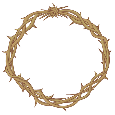 doornenkroon: Doornen kroon   Stock Illustratie