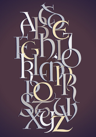 Alphabet composition of lombard letters