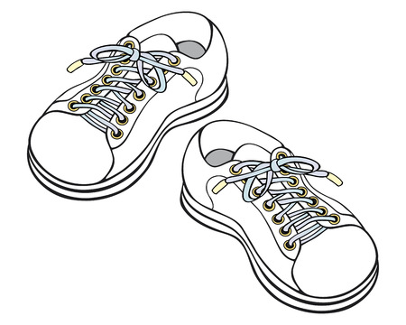 childrens sneakers Illustration