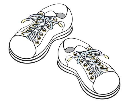 childrens sneakers Illustration